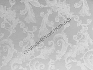 "Жаккард однотонный ""Французские узоры"" (белый)"